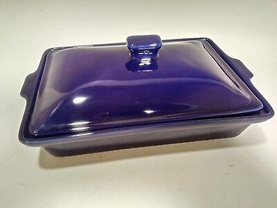 Temp-Tations Cobalt Blue Rectangular Baking Dish With Lid QVC. 10inch x7 1/2inch 1/2 Inch Rectangular Baking Dish