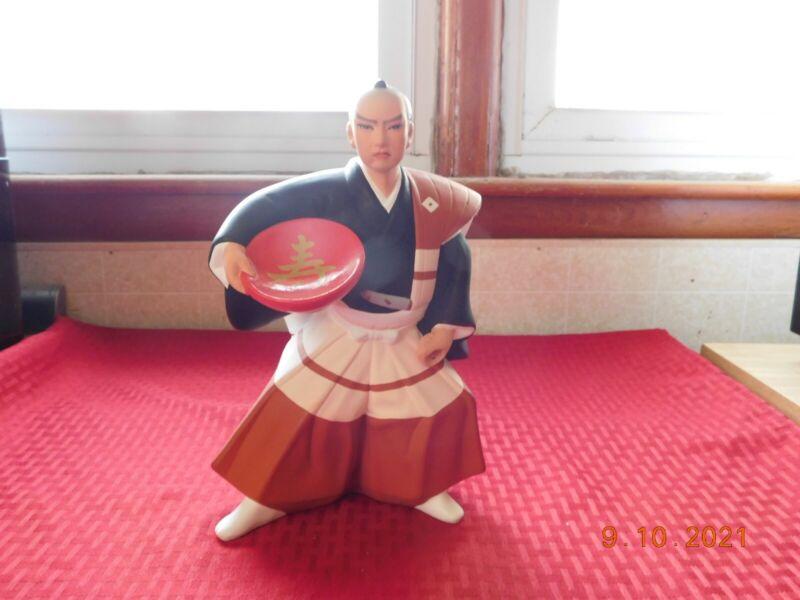 VTG Japanese Ceramic Hakata Samauri Warrior Figurine Guy Doll Association