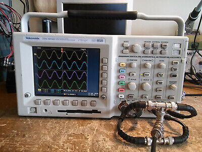 Low Hours Tektronix Tds3054b 500mhz 5gsas Oscilloscope. Tested. Tds3trg Tds3fft