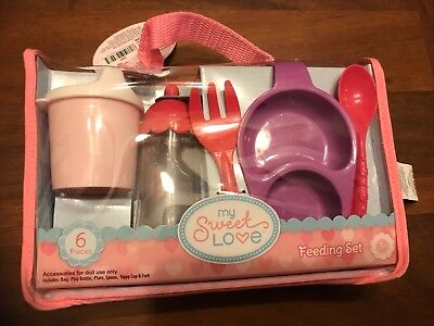 My Sweet Love Baby Doll Feeding Set- 6 Pieces Baby Doll Feeding Set