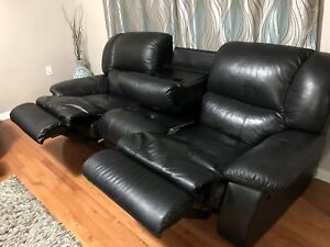 Leather 3 seat sofa recliner and love Seat recliner-200.00
