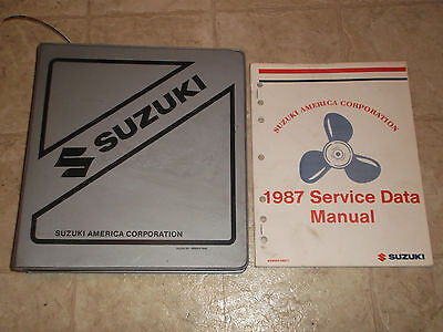 1987 Suzuki Outboard Dealer Parts Department Manual Service Data Rigging Set Up