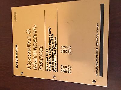 Cat Caterpillar 3114 3116 Generator Truck Engine Operation Maintenance Manual