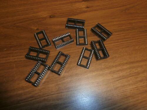 LOT/10 NOS 24 PIN IC SOCKETS GC 41-781-BU,NOS