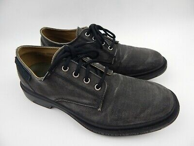Pezzol 1951 Italy Grey Distressed Canvas Oxfords 043 Shoes Men's sz 44 10.5