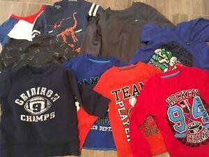 Size 4 lot of boys long sleeves and sweater