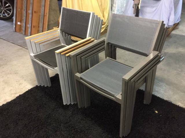 Stackable outdoor chairs   Outdoor Dining Furniture ...