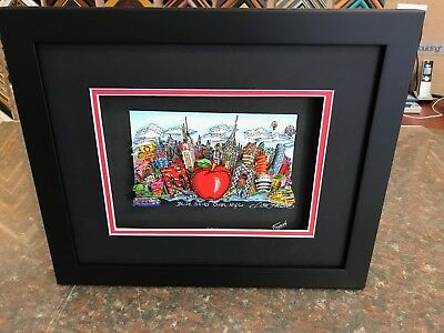 "Charles Fazzino 3D Artwork "" Blue Skies over New York "" Deluxe Edtion Signed"