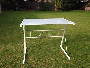 Metal Frame White Glass Top Desk South Morang Whittlesea Area Preview
