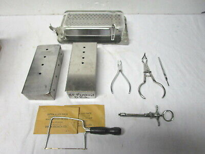 Lot Misc Stainless Steel Dental Equipment--pliers Boxes Sterilizing Equip