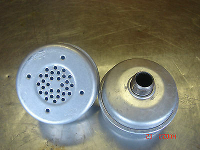 2 Genuine Nos Antique Briggs Stratton Gas Small Engine Round 3 Muffler Lot