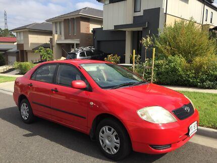 2002 Toyota Corolla Ascent - Auto- Red $5250