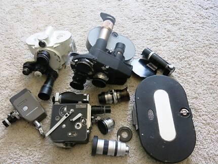 Vintage 35mm,16mm,8mm movie cameras,Lenses for Arriflex, DSLRs South Yarra Stonnington Area Preview