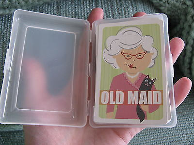 NEW OLD MAID CLASSIC PLAYING CARDS CARD GAME W/CASE--Stocking Stuffer