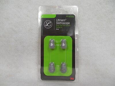 Littmann Stethoscope Eartip Kit Snap Tight Soft Seal Grey 40002small Large