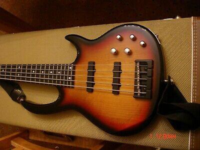 CARVIN Bunny Brunel BB75 5 string electric bass guitar Tabaco Sunburst w/ case