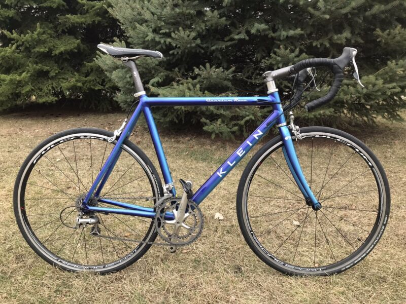 Klein Quantum Race Road Bike In Big Sky Blue With Ultegra Group Chehalis US Made