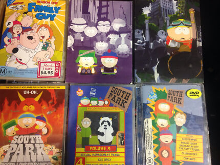 South Park Collection of DVD's 11x
