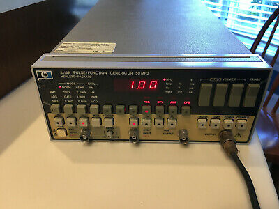 Hp 8116a 50 Mhz Pulse Function Generator Partially Tested With Service Manual