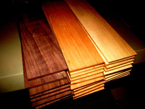 MULTIPAK (12) LONG KILN DRIED SANDED THIN WALNUT, CHERRY, HICKORY 24 X 3 X 1/4""