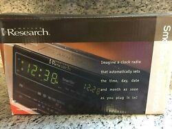 NEW Emerson Research Smart Set Alarm Clock Radio Black Model No. CKS2000