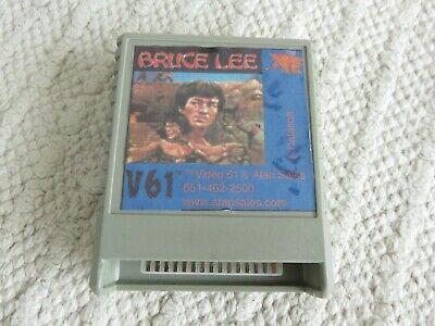 Rare V61 Atari 800 XL XE Bruce Lee cartridge.