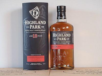 Whisky Highland Park 18 Jahre Single Malz OAK Fässer Sherry 70cl
