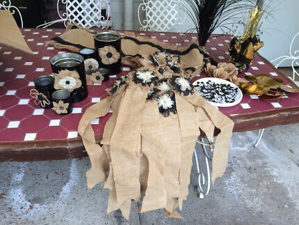 Black, Gold and Burlap Decorations Banyo Brisbane North East Preview