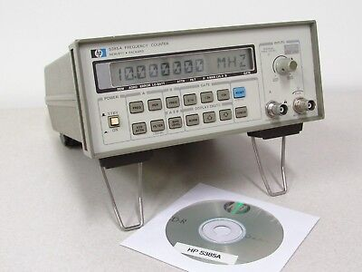 Hp Agilent 5385a 1 Hz To 1 Ghz Frequency Counter With Opt 004 Oven Time Base