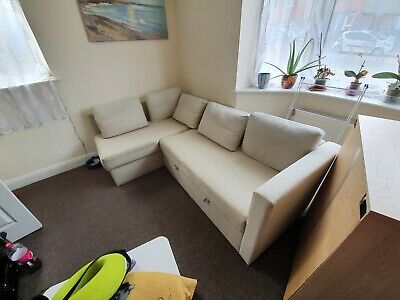 Corner sofa bed with storage used