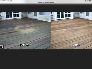 Spring Deck Cleaning, Pressure Washed