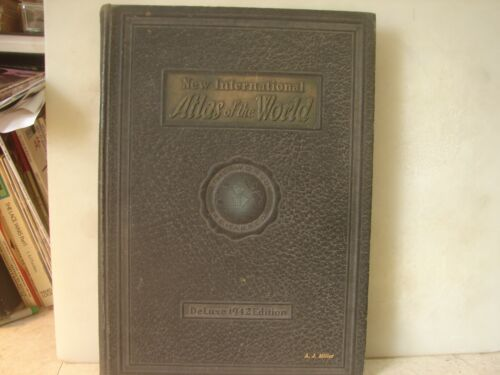 New International Atas of the World Deluxe 1942 Edition