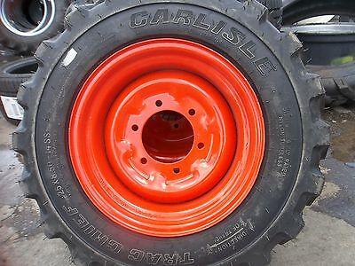 Two 258.50x14 Carlisle Kubota Bobcat Loader Skid Steer Rim Guard Tires Wwheels