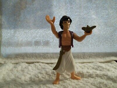 "Disney ALADDIN action figure toy / cake topper with Lamp vintage PVC 4 "" tall"