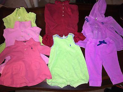 Ralph Lauren Polo CLOTHING MULTI  6 9 18 Month Lot 7PC INFANT Girls