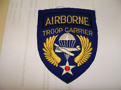 WWII Vintage English Made Airborne Troop Carrier Patch, COLLECTORS DISPLAY