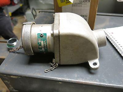 Appleton Acr3044 With Back Box 30 Amp 4 Pole 600 Volt Pin Sleeve Plug