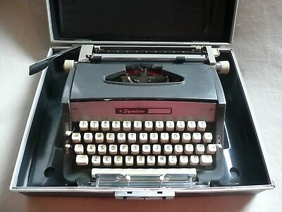 Rare Vintage Signature 440 T Portable Script With Manual Case And Original Key