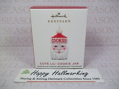 Hallmark 2020 Cute Lil' Cookie Jar Miniature Ornament Empire Blow Mold Santa
