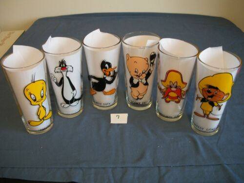 Looney tunes, Pepsi Collector Series Glasses Lot of 6 1973