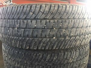 For sale one set of Michelin 10 ply tires for 18 inch rims