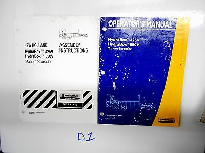 New Holland 425v 550v Hydrabox Manure Spreader Operators Owners Manual 211