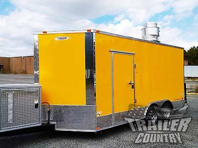 New 8.5 X16 V-nose Enclosed Concession Food Vending Bbq Mobile Kitchen Trailer