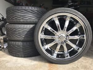 "* 20"" Toyo low profile tires on rims * - $1000 (Cloverdale)"