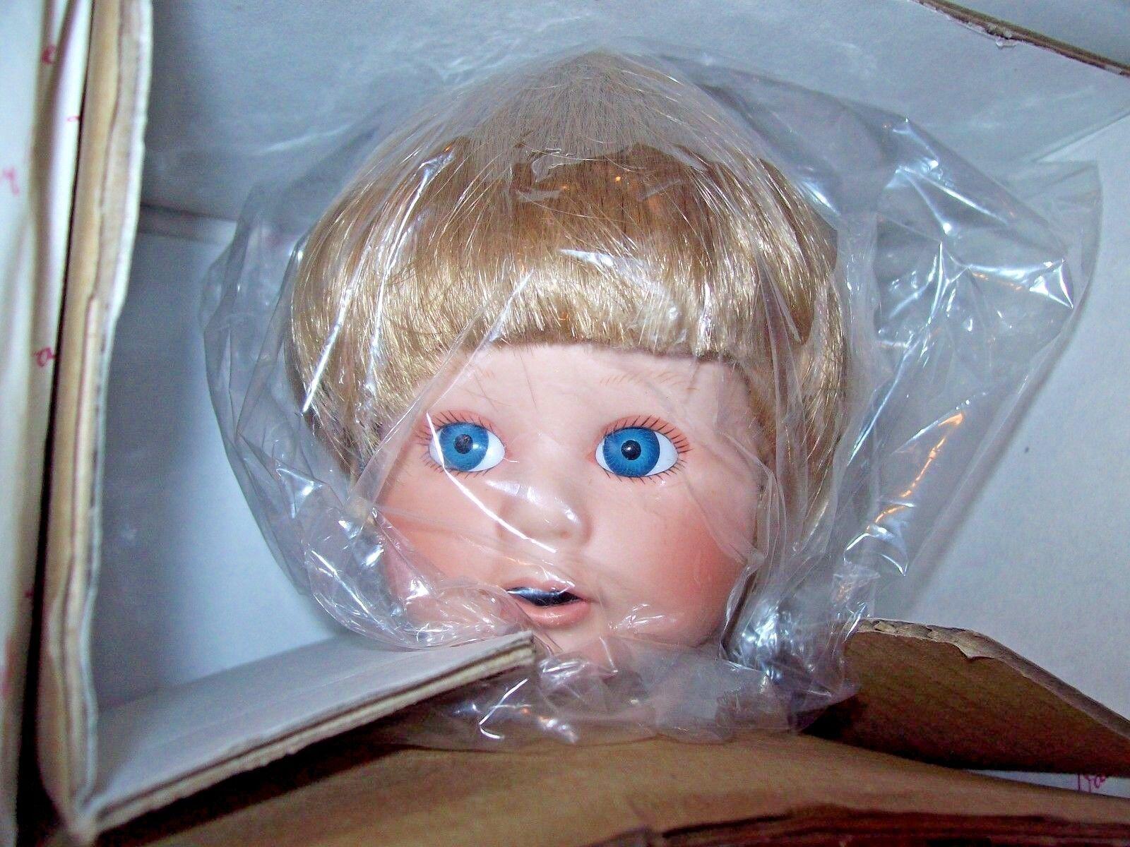 DANBURY MINT/ ELAINE CAMPBELL PORCELAIN DOLL KIDS IN THE KITCHEN JILL W/COA - $17.99
