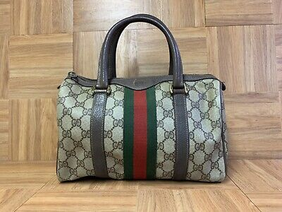 VNTG Gucci Accessory Collection Small Dr Hand Bag Purse Brown Monogram Speedy
