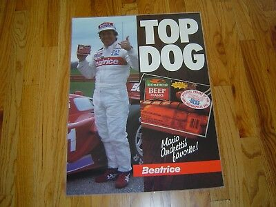 Mario Andretti 1985 TOP DOG Poster - LAMINATED - REDUCED