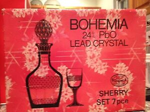 Bohemian Crystal Sherry/Port  Set Fairlight Manly Area Preview