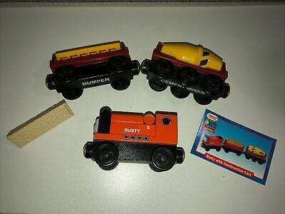 Thomas the Train & Friends Wooden Railway Rusty w/ Dumper & Mixer