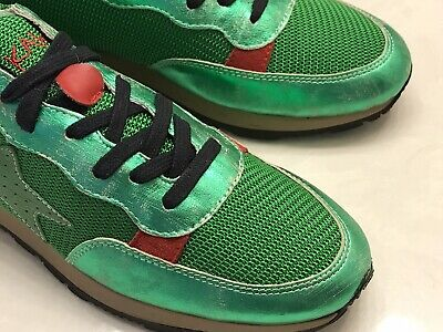 ISHIKAWA Green Leather Sneakers Hand Made in Italy Men's EU 45/US 12 Premium